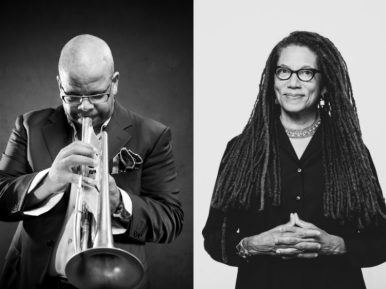 Terence Blanchard, photo by Greg Miles; Nikky Finney, photo by Rachel Eliza Griffiths